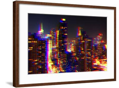 After Twitch NYC - Towers Night-Philippe Hugonnard-Framed Art Print