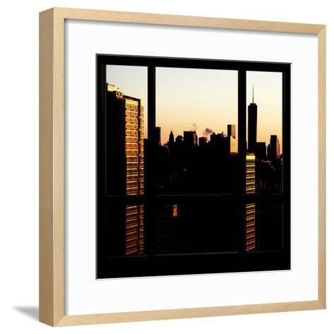 View from the Window - One World Trade Center at Sunset-Philippe Hugonnard-Framed Art Print