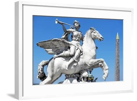 Paris Focus - French Sculpture with an Obelisk-Philippe Hugonnard-Framed Art Print