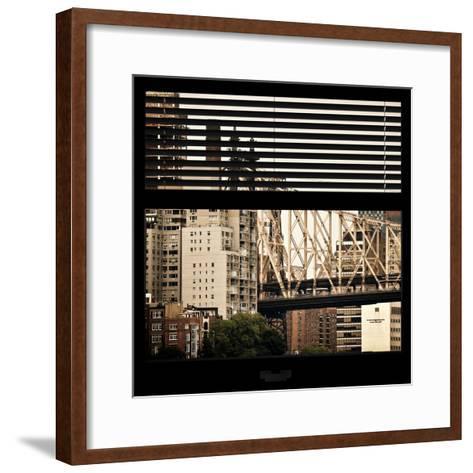 View from the Window - Queensboro Bridge-Philippe Hugonnard-Framed Art Print