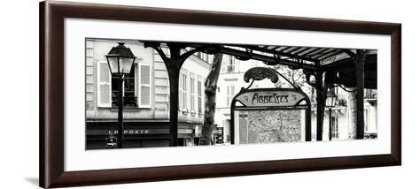 Paris Focus - Metro Abbesses-Philippe Hugonnard-Framed Art Print