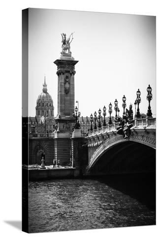 Paris Focus - Paris City Bridge-Philippe Hugonnard-Stretched Canvas Print