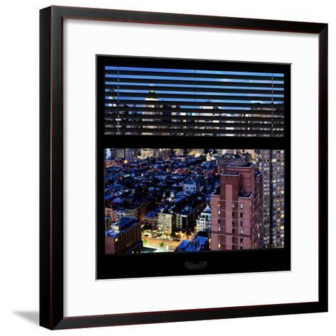View from the Window - Manhattan Night-Philippe Hugonnard-Framed Art Print