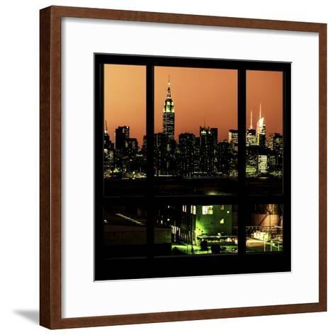 View from the Window - Night Skyline - New York City-Philippe Hugonnard-Framed Art Print