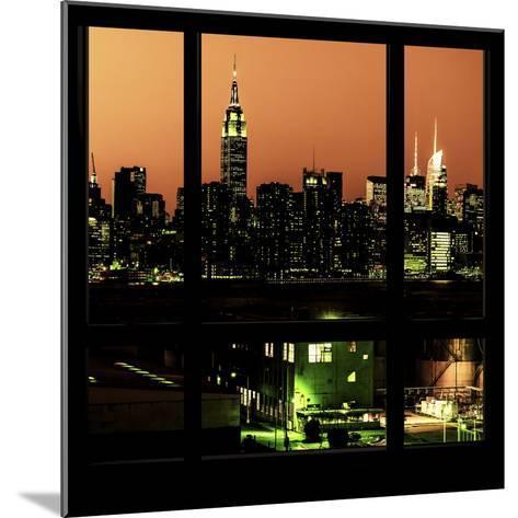View from the Window - Night Skyline - New York City-Philippe Hugonnard-Mounted Photographic Print