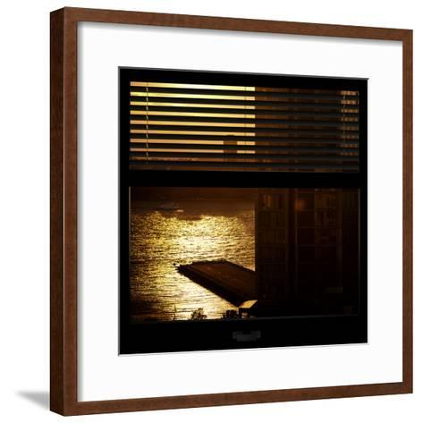 View from the Window - New York Building Sunset-Philippe Hugonnard-Framed Art Print
