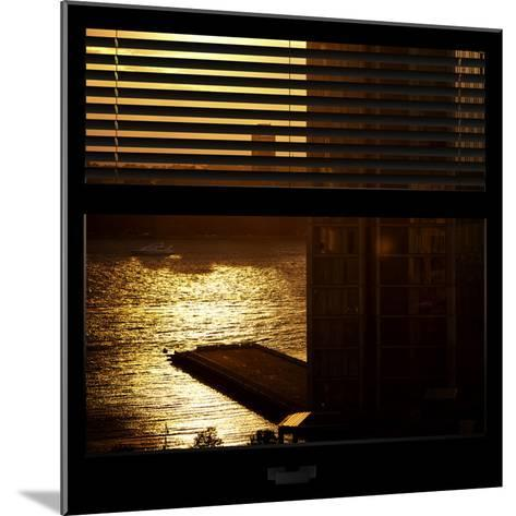 View from the Window - New York Building Sunset-Philippe Hugonnard-Mounted Photographic Print
