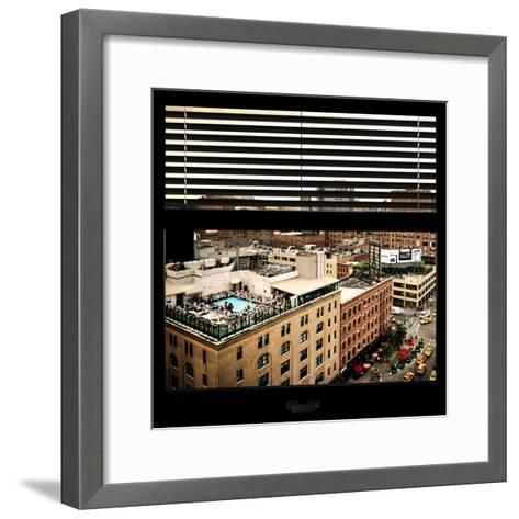 View from the Window - Chelsea Buildings - Manhattan-Philippe Hugonnard-Framed Art Print