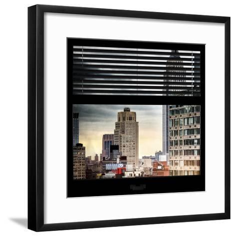 View from the Window - Manhattan Buildings-Philippe Hugonnard-Framed Art Print