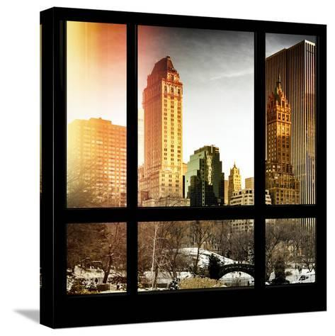 View from the Window - Central Park in Winter-Philippe Hugonnard-Stretched Canvas Print