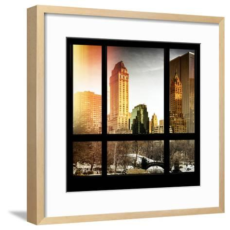 View from the Window - Central Park in Winter-Philippe Hugonnard-Framed Art Print
