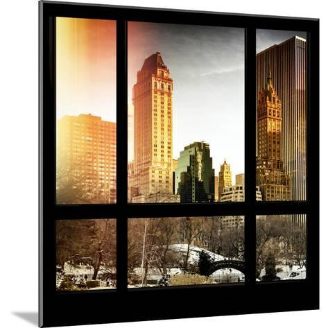 View from the Window - Central Park in Winter-Philippe Hugonnard-Mounted Photographic Print