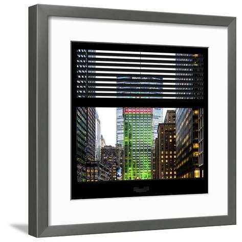 View from the Window - Manhattan Buildings-Philippe Hugonnard-Framed Art Print