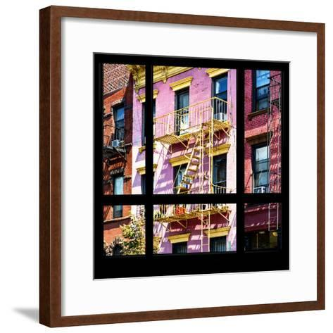 View from the Window - New York Facade Colors-Philippe Hugonnard-Framed Art Print