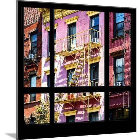 View from the Window - New York Facade Colors-Philippe Hugonnard-Mounted Photographic Print