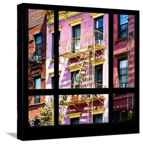 View from the Window - New York Facade Colors-Philippe Hugonnard-Stretched Canvas Print