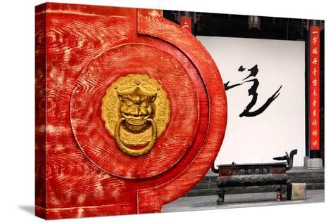 China 10MKm2 Collection - The Door God - Buddhist Art-Philippe Hugonnard-Stretched Canvas Print