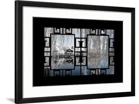 China 10MKm2 Collection - Asian Window - Another Look Series - White Reflections-Philippe Hugonnard-Framed Art Print
