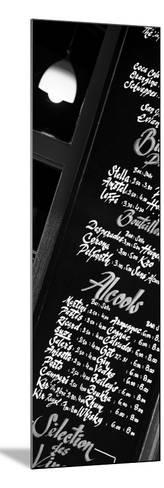 Paris Focus - Bar Menu-Philippe Hugonnard-Mounted Photographic Print