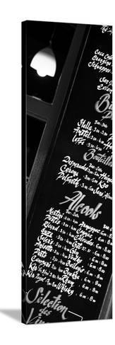 Paris Focus - Bar Menu-Philippe Hugonnard-Stretched Canvas Print