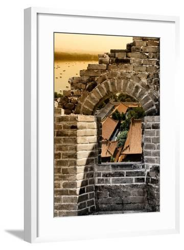 China 10MKm2 Collection - Arch Window of the Summer Palace-Philippe Hugonnard-Framed Art Print