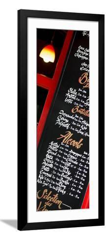 Paris Focus - Bar Menu-Philippe Hugonnard-Framed Art Print