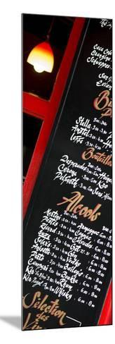 Paris Focus - Bar Menu-Philippe Hugonnard-Mounted Photographic Print