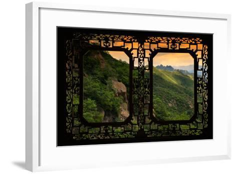China 10MKm2 Collection - Asian Window - Great Wall of China-Philippe Hugonnard-Framed Art Print
