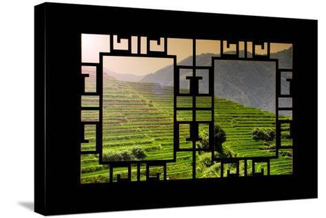 China 10MKm2 Collection - Asian Window - Rice Terraces - Longsheng Ping'an - Guangxi-Philippe Hugonnard-Stretched Canvas Print