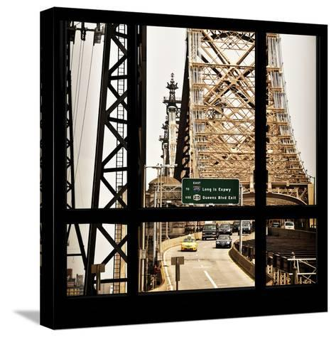 View from the Window - Queensboro Bridge Traffic-Philippe Hugonnard-Stretched Canvas Print