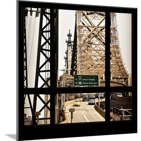 View from the Window - Queensboro Bridge Traffic-Philippe Hugonnard-Mounted Photographic Print