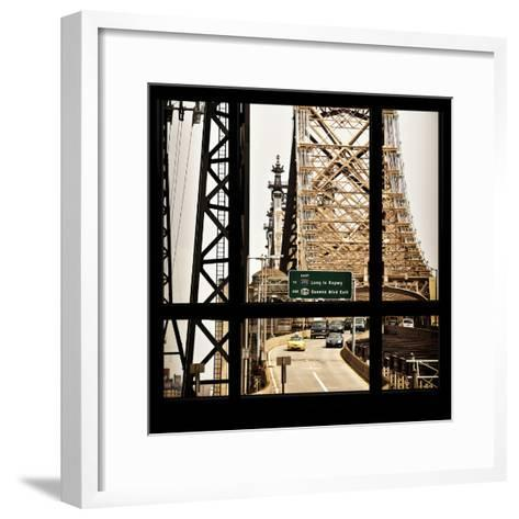 View from the Window - Queensboro Bridge Traffic-Philippe Hugonnard-Framed Art Print