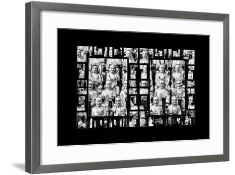 China 10MKm2 Collection - Asian Window - Gold Buddhist Statues in Longhua Temple-Philippe Hugonnard-Framed Art Print