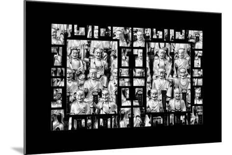 China 10MKm2 Collection - Asian Window - Gold Buddhist Statues in Longhua Temple-Philippe Hugonnard-Mounted Photographic Print