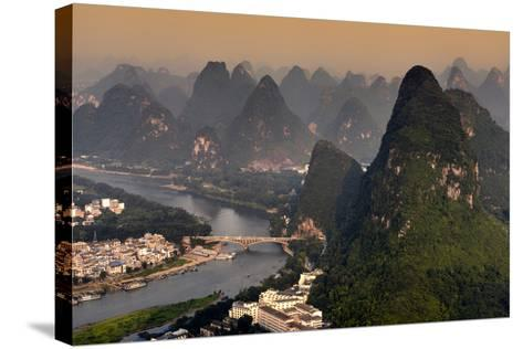 China 10MKm2 Collection - Beautiful Scenery of Yangshuo at sunset-Philippe Hugonnard-Stretched Canvas Print