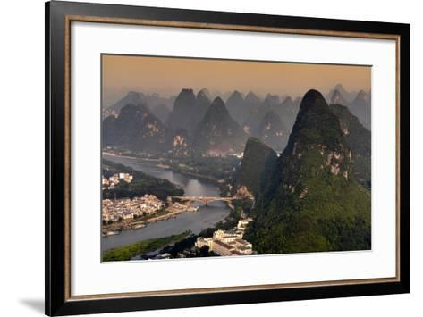 China 10MKm2 Collection - Beautiful Scenery of Yangshuo at sunset-Philippe Hugonnard-Framed Art Print