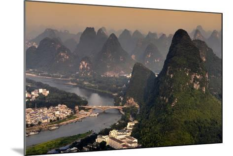 China 10MKm2 Collection - Beautiful Scenery of Yangshuo at sunset-Philippe Hugonnard-Mounted Photographic Print