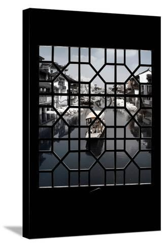 China 10MKm2 Collection - Asian Window - Another Look Series - White Boat-Philippe Hugonnard-Stretched Canvas Print