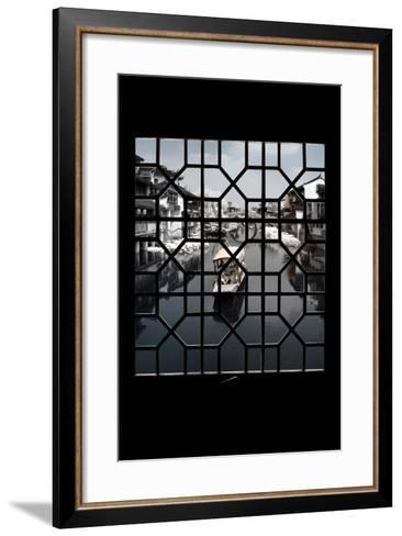 China 10MKm2 Collection - Asian Window - Another Look Series - White Boat-Philippe Hugonnard-Framed Art Print