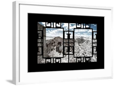 China 10MKm2 Collection - Asian Window - Another Look Series - Great Wall of China-Philippe Hugonnard-Framed Art Print