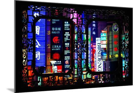 China 10MKm2 Collection - Asian Window - Neon Signs in Nanjing Lu - Shanghai-Philippe Hugonnard-Mounted Photographic Print
