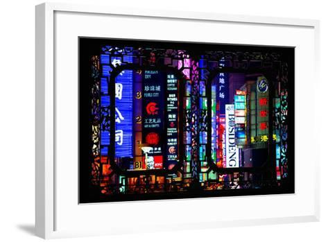 China 10MKm2 Collection - Asian Window - Neon Signs in Nanjing Lu - Shanghai-Philippe Hugonnard-Framed Art Print