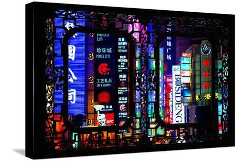 China 10MKm2 Collection - Asian Window - Neon Signs in Nanjing Lu - Shanghai-Philippe Hugonnard-Stretched Canvas Print