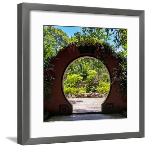 China 10MKm2 Collection - Chinese Arch Garden-Philippe Hugonnard-Framed Art Print