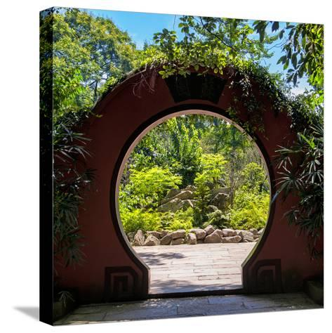China 10MKm2 Collection - Chinese Arch Garden-Philippe Hugonnard-Stretched Canvas Print