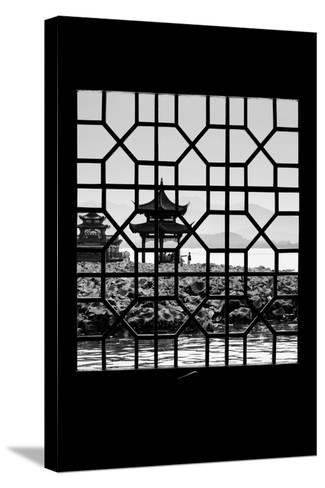 China 10MKm2 Collection - Asian Window - West Lake-Philippe Hugonnard-Stretched Canvas Print