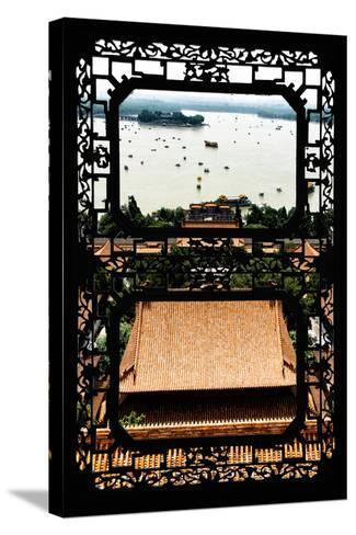 China 10MKm2 Collection - Asian Window - Summer Palace Beijing-Philippe Hugonnard-Stretched Canvas Print
