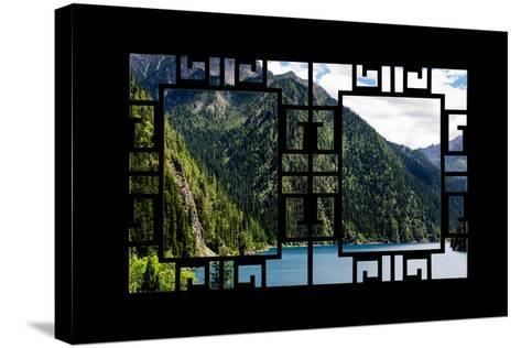 China 10MKm2 Collection - Asian Window - Beautiful Lake in the Jiuzhaigou National Park-Philippe Hugonnard-Stretched Canvas Print