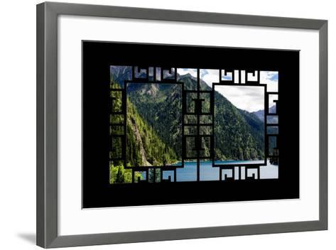 China 10MKm2 Collection - Asian Window - Beautiful Lake in the Jiuzhaigou National Park-Philippe Hugonnard-Framed Art Print