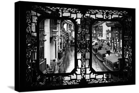 China 10MKm2 Collection - Asian Window - Shantang water Town - Suzhou-Philippe Hugonnard-Stretched Canvas Print